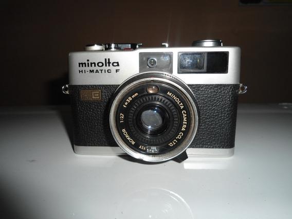 Maquina Fotográfica Minolta Hi-matic F Usada + Brinde