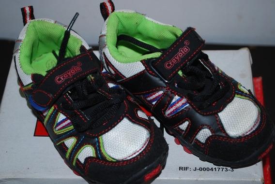 Zapatos Deportivos Crayola, Talla 27 Usados