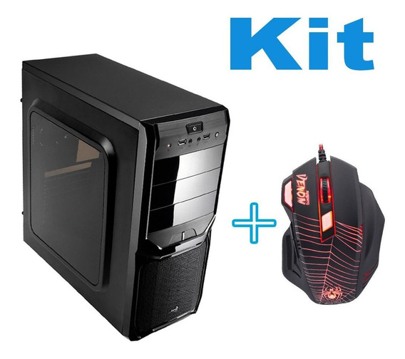Gabinete Para Pc Simples E Barato + Mouse Com Led Leve Top