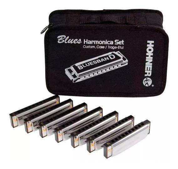 Set De 7 Armonicas Diatonicas Hohner Blues Set + Envio