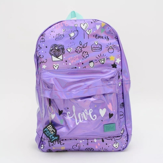 Mochila Ppr Big Pocket Holografica Love