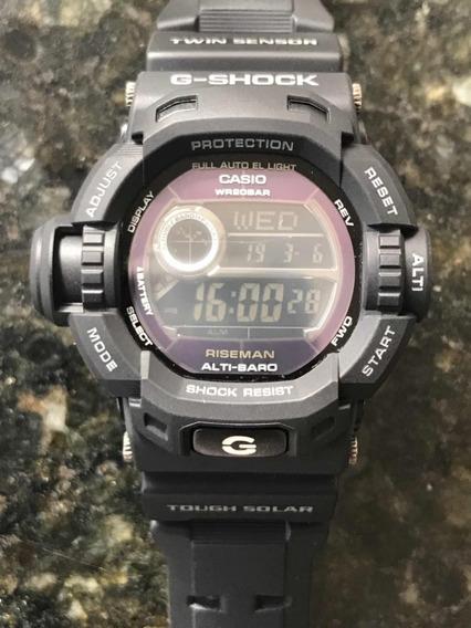 Relógio Casio G-shock G-9200 Bw Riseman Solar