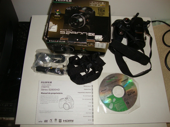Camera Fujifilm Finepix S2800 Hd 14mp 18x Lcd 3 Completa
