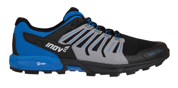 Tenis Hombre Inov8 Negro/azul Montaña Roclite 275 G-grip