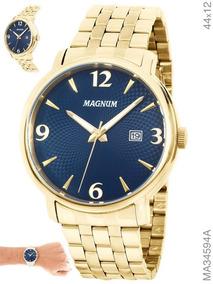 Relogio Magnum Masculino Dourado - Ma34594a