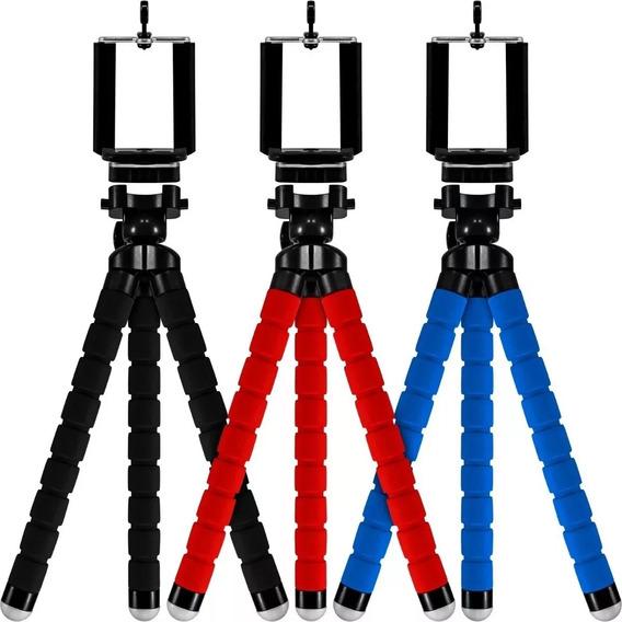 Tripé Para Câmera E Celular Flexível 30 Cm Mais Acessórios