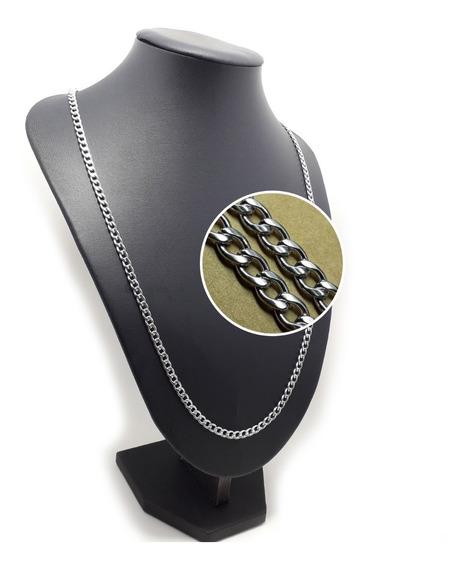 Corrente Masculina Grumet Em Aço Inox 65cm 4mm