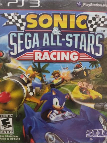 Sonic Sega All-stars Racing Ps3 Mídia Física