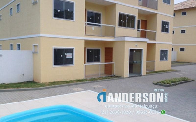 Apartamento Em Itaipuaçu Em Condomínio Com Piscina E Vaga De Garagem