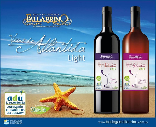 Vino Tannat/cabernet Light Para Diabeticos Bodega Fallabrino