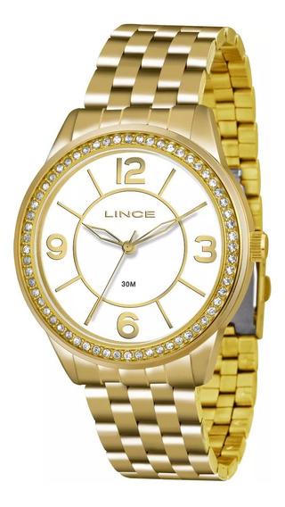 Relógio Lince Original Lrg4340l B2kx Feminino Dourado