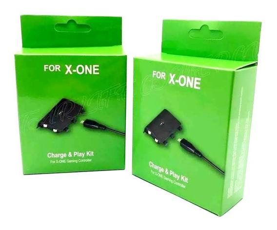 2 Bateria E Cabo Xbox One Carregador Charge Controle 8800mah