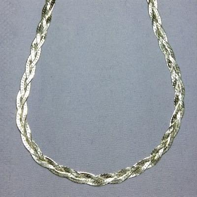 Colar De Prata 925 Feminino Trançado