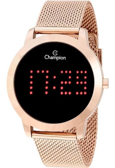 Relógio Champion Feminino Digital Rosê Original