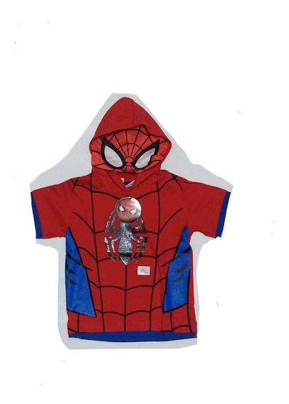 Remera Con Capucha Spiderman, Original Marvel