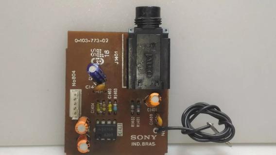 Placa Entrada Microfone Do Sony Lbt-a495 Original