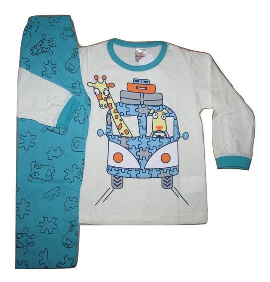 Pijama Infantil Masculino 100% Algodão Tamanhos 01 Até 10