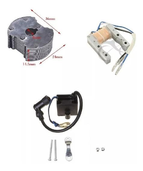 Kit Rotor Magneto + Bobina+cdi Bike Motorizada 80c 49c 66cc