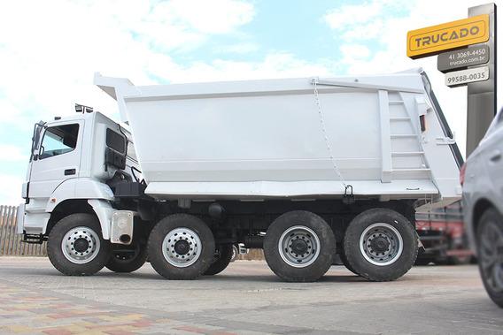 Caminhão Mb 4144 8x4 Quarto Eixo 2009 Caçamba Pastre