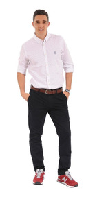 Camisa Manga Larga Springs Jack Supplies Para Hombre- Blanco