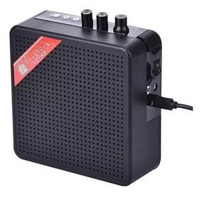Miniamp Com Overdrive Portátil Guitarra Bluetooth Microsd 5w