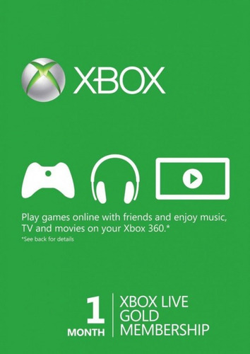 Xbox Live 1 Mes Suscripción Gold