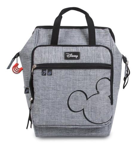 Imagem 1 de 4 de Mochila Baby Bag Casual Luxo Mickey Cinza C/ Trocador Disney
