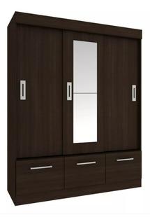 Ropero Placard 3 Puertas Corredizas Opción Espejo Dormitorio