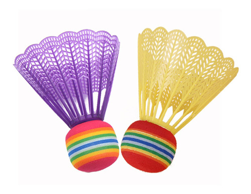 10pcs Shuttlecocks Nylon Badminton Várias Cores Duráveis