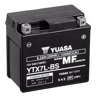 Batería Motos Yuasa Ytx7l-bs Yt7a Honda Tornado 250 Rpm