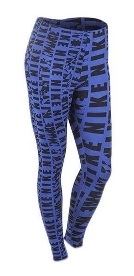 Calza Azul Nike Club Legging Aop W Azul 739632