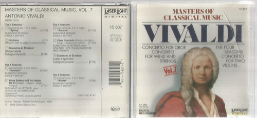 Cd Vivaldi Masters Of Classical Music Bonellihq Cx44 E19