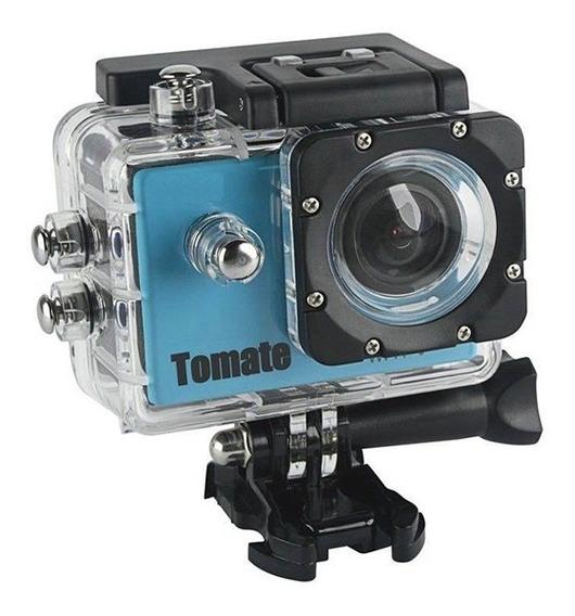 Câmera E Filmadora Esportiva Tomate Mt-1080w Azul