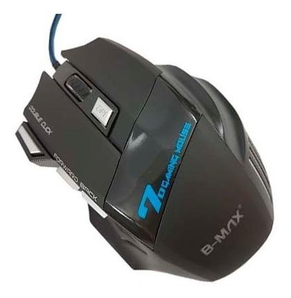 Mouse Gamer Led Bmax X7 Óptico 3200dpi Pc 7 Botões Promoção