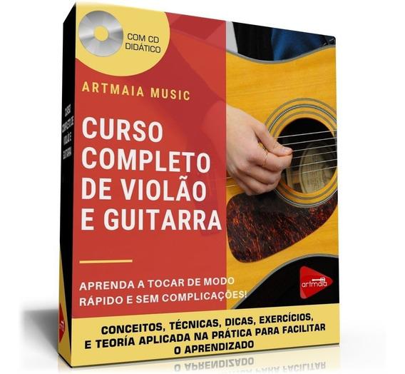 Curso Completo De Violão E Guitarra - Frete Grátis