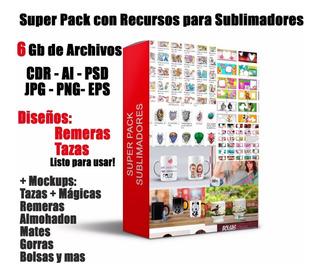 Pack Sublimacion: Mockups - Vectores - Plantillas - Imagenes