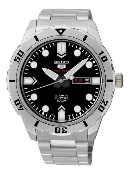 Kit Relógio Masculino Seiko Prateado Srp671b1ks00 E Canivete