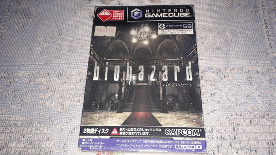 Biohazard Resident Evil Completo Nintendo Gamecube Japonês