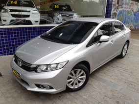 Honda Civic Lxr 2014/2013 Prata 2.0 Flex Automático 78000 Km