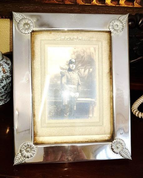 Porta Retrato Em Prata Antiga Original