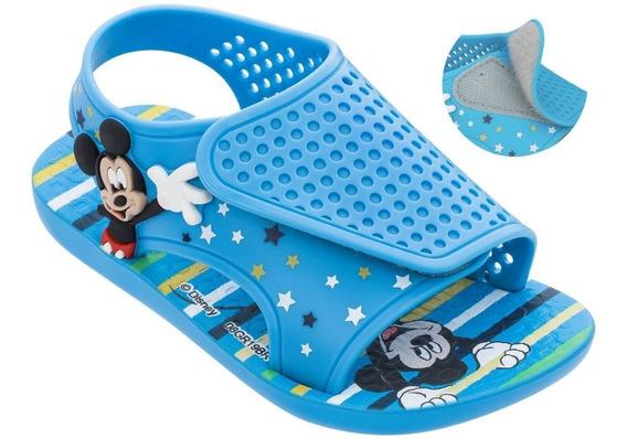 Sandália Ipanema Com Velcro Baby Disney Mickey Mouse