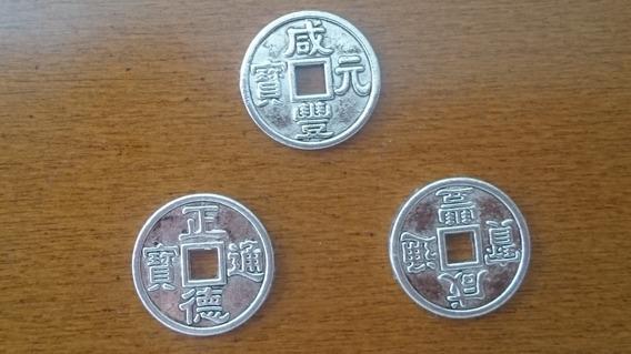3 Moedas Chinesas Prata Raras- Cod.125