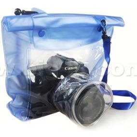 Capa Bolsa Estanque Case À Prova Dágua Nikon Canon Universal