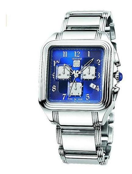 Relógio Roberto Cavalli Venom Swis Fundo Azul Caixa 39mm