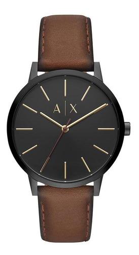 Relógio Masculino Armani Ax2706/0mn 42mm Couro Marrom