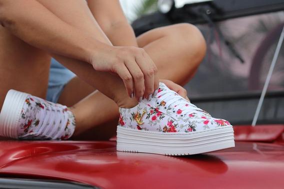 Tênis Sneaker Feminino Plataforma Slip