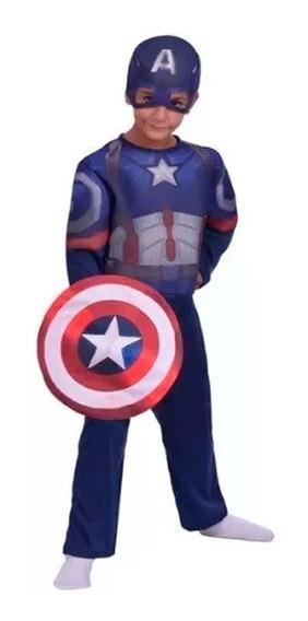 Disfraz Capitan America Con Luz Marvel New Toys Educando