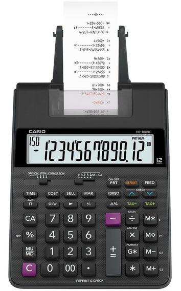 Calculadora Mesa Compacta Impressão Casio Hr-100rc-bk-b-dc