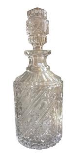 Licorera Cristal Cortado Antigua De Vidrio