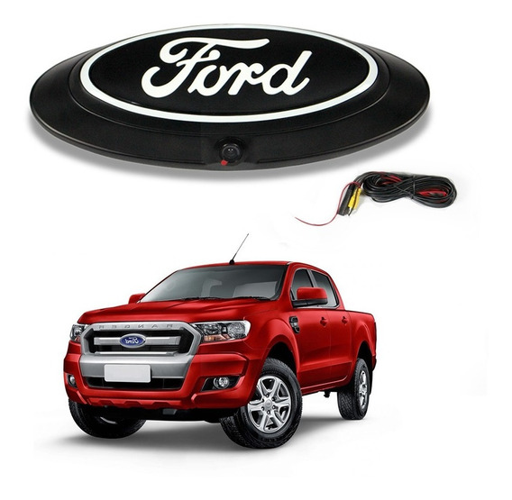 Emblema Traseiro Ford Ranger Com Câmera De Ré Embutida